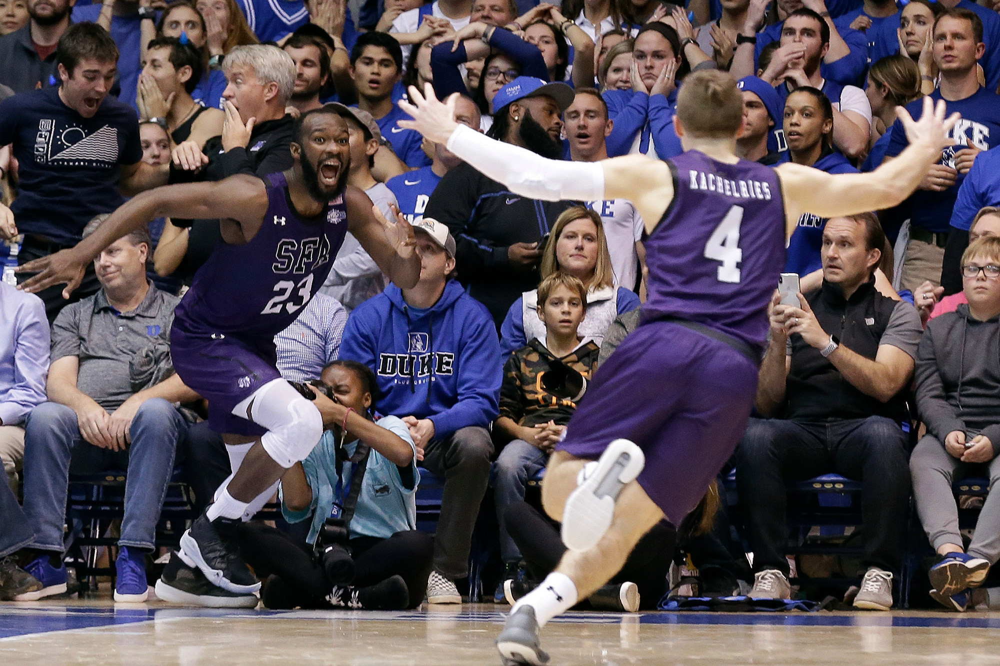Leading-Stephen-F. Austin-to-historic-upset-over-No.-1-Duke,-then-buzzer-beating-hero-Nate-Bain-gets-surprise-of-a-lifetime