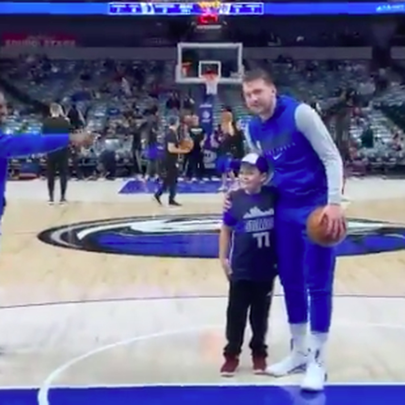 Luka Doncic To Give Autographed Shoes to A Young Fan